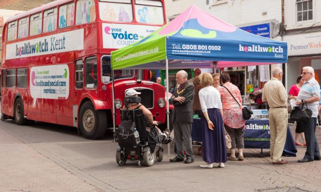 Healthwatch Kent Big Red Bus gathers views from the people of Dartford on local health & social care services