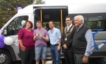 Donation of Mini bus to disabled Children's Charity