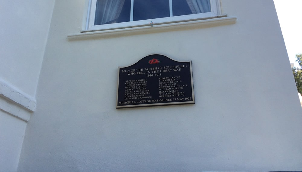 SOUTHFLEET COTTAGE IS A PERMANENT MEMORIAL TO THE HEROES OF THE GREAT WAR