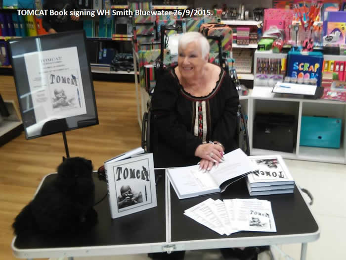 Local Author signs copies of her book at Bluewater WH Smiths