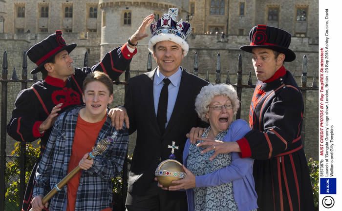 David Walliams attempted to steal the Crown Jewels from the Tower of  London with the help of Gangsta Granny!