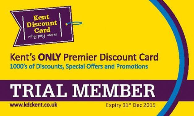Kent Discount Card Trial Membership