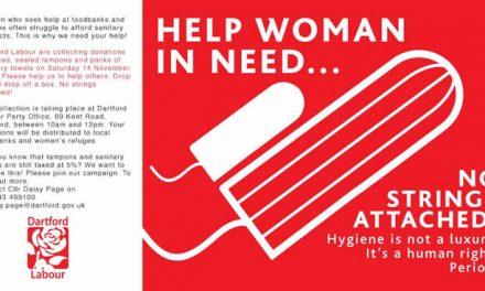 Dartford Labour Press release: Dartford Labour Women launch campaign against the 'Tampon Tax'
