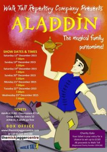 aladdin, walk tall theatre