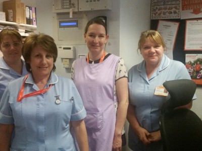 Claire Cardy with nurses