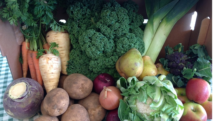 Veg Box from Stanhill Farm