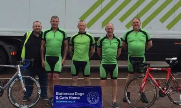 Local fundraisers get cycling to pedal the distance  for Battersea's countryside cats and canines