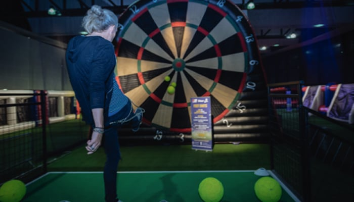 FOOTBALLER JIMMY BULLARD OPENS WORLD'S FIRST INDOOR FOOTBALL THEME PARK AT BLUEWATER, KENT