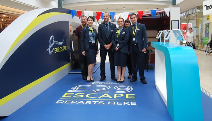 All-aboard Eurostar's pop-up carriage