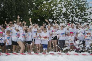 Bubbles at the start of Bubble Rush Dartford 7 Aug 2016