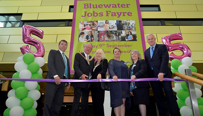 BLUEWATER'S JOBS FAYRE CELEBRATES ITS FIFTH ANNIVERSARY AS DARTFORD SEES LOWEST UNEMPLOYMENT RATE IN 20 YEARS