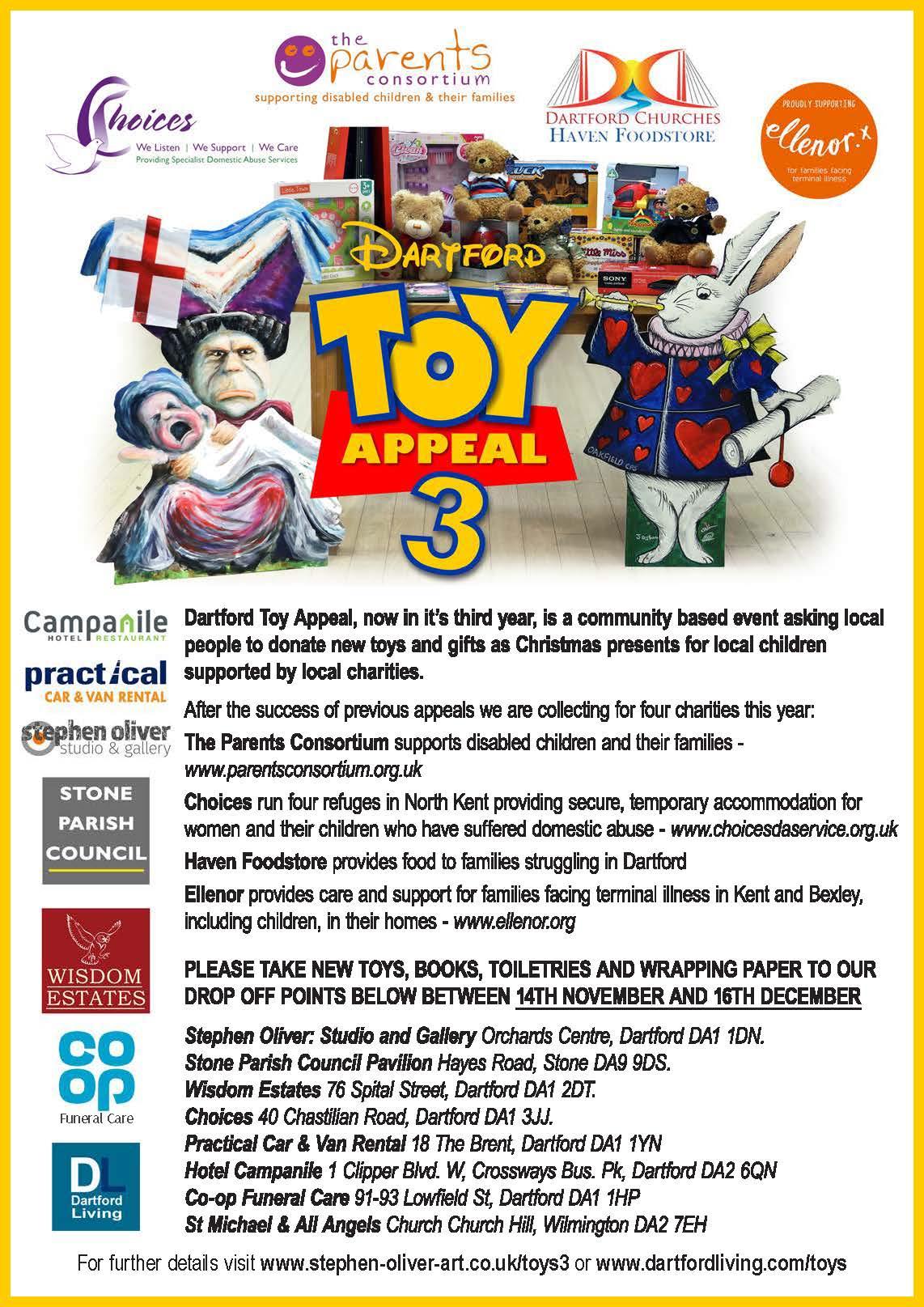 Dartford toy appeal 3 poster