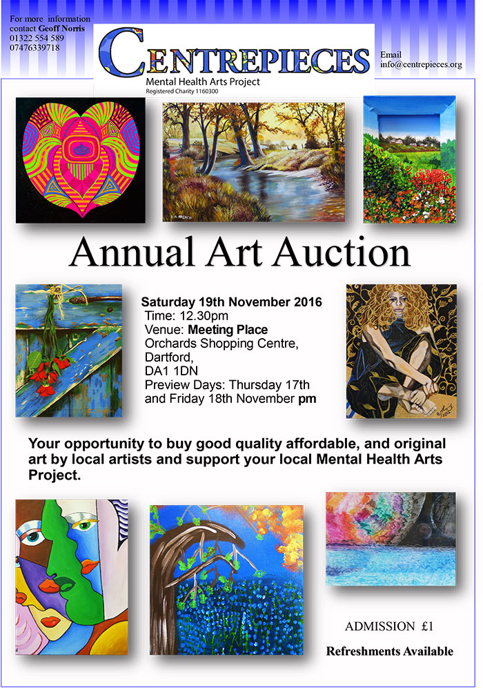 Centrepiece Art Auction Poster 2016