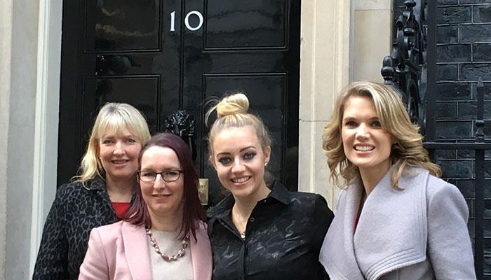 ellenor at 10 Downing Street