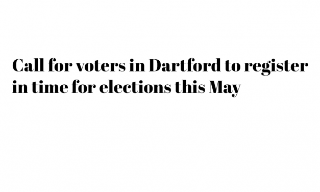 Dartford voters register in time for elections this May