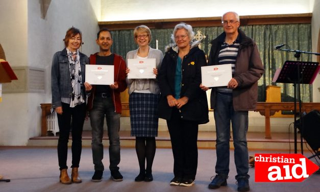 Christian Aid Fundraisers Receive Diamond Award