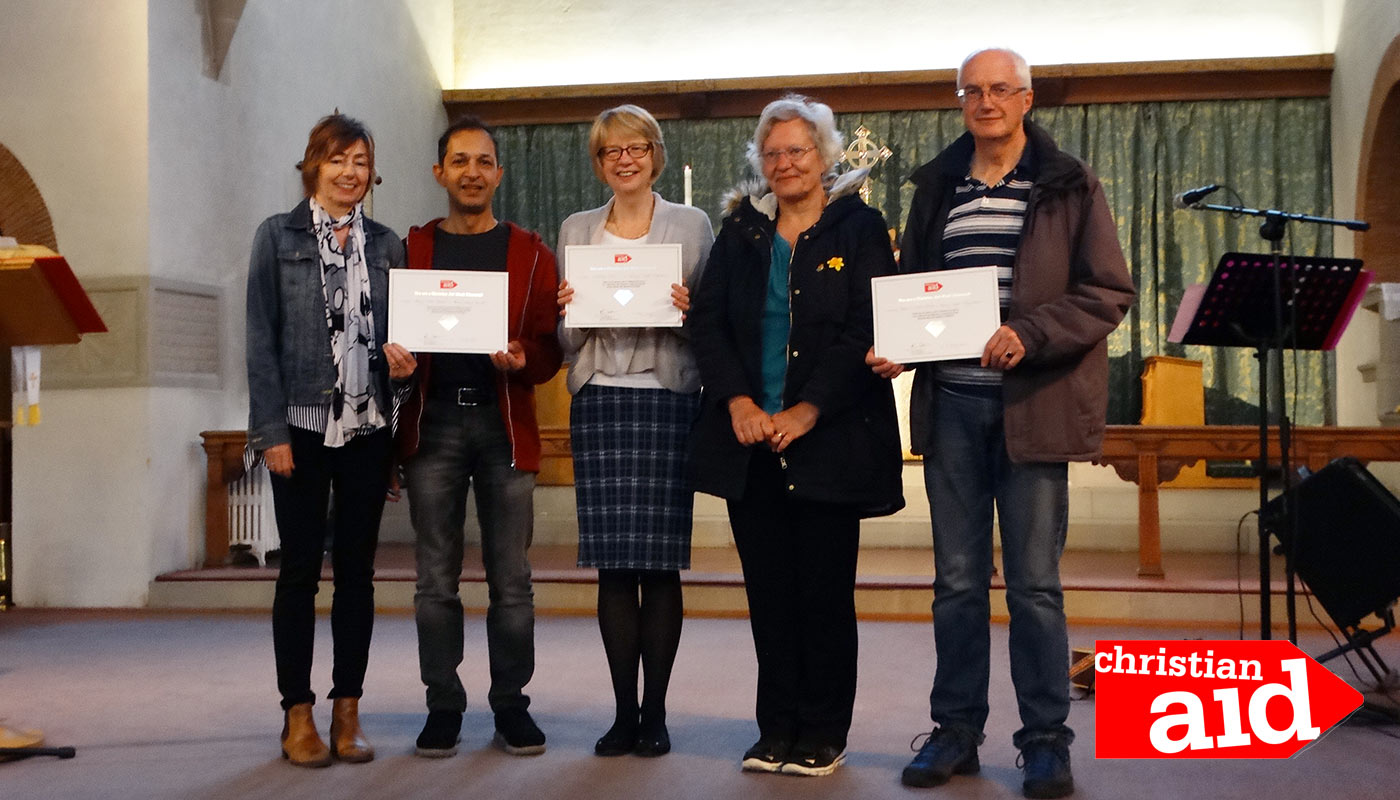 Christian Aid Fundraisers Receive Diamond Award