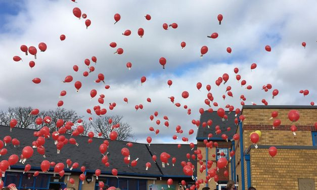 Maypole Primary School Annual Balloon Race
