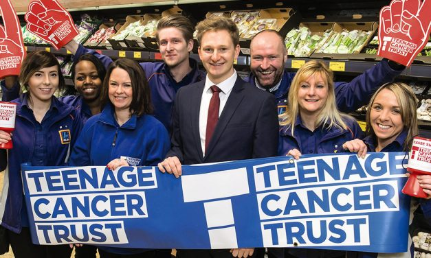 Aldi Dartford Staff and Customers Raise Cash for Teenage Cancer Trust