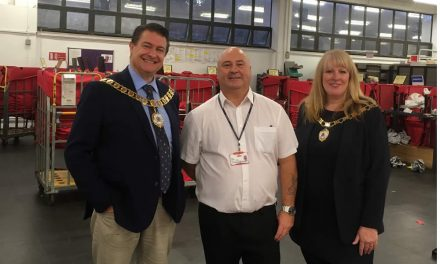 Mayor and Mayoress visit Dartford Post Office Sorting Office