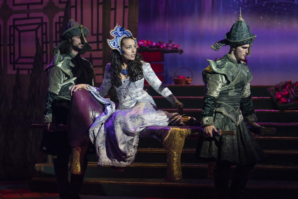 Stephanie Elstob in Aladdin at The Orchard Theatre. Credit Luke Varley DL