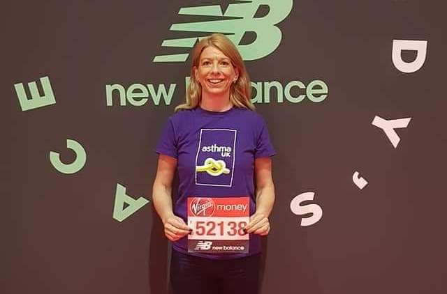LOCAL MANAGER'S MARATHON MISSION IN AID OF ASTHMA UK