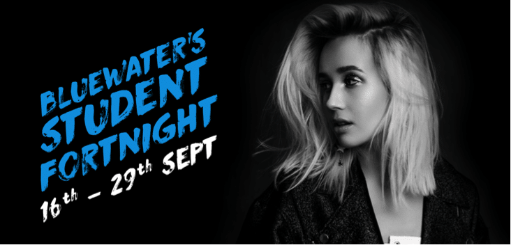 EXCLUSIVE DISCOUNTS AVAILABLE AT BLUEWATER'S STUDENT FORTNIGHT