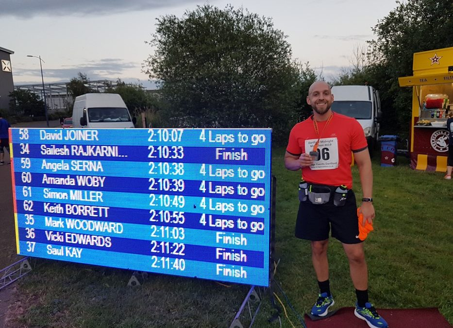Marathon Training at Christmas for Mark Woodward
