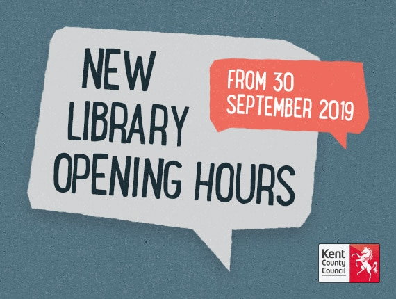 Don't forget library opening-hours in the Dartford area have changed.