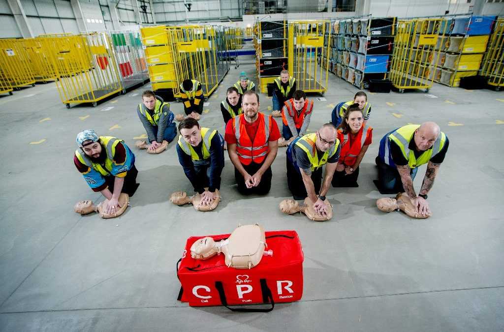 The British Heart Foundation helps teach Dartford drivers delivering Amazon parcels in lifesaving CPR