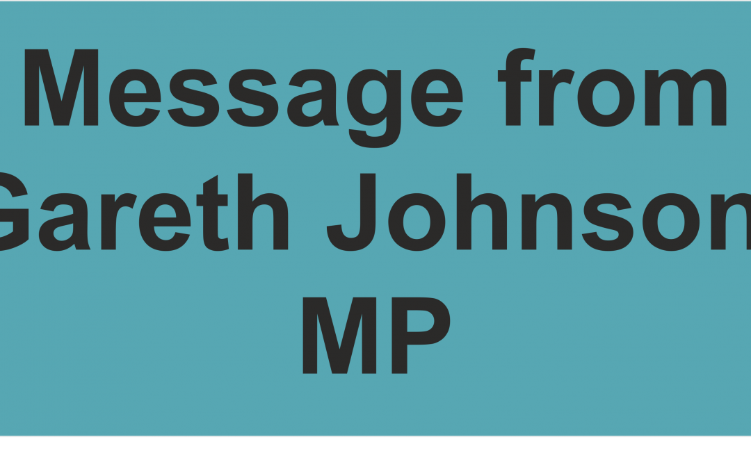 Notice from Gareth Johnson MP, on behalf of MPs in Kent