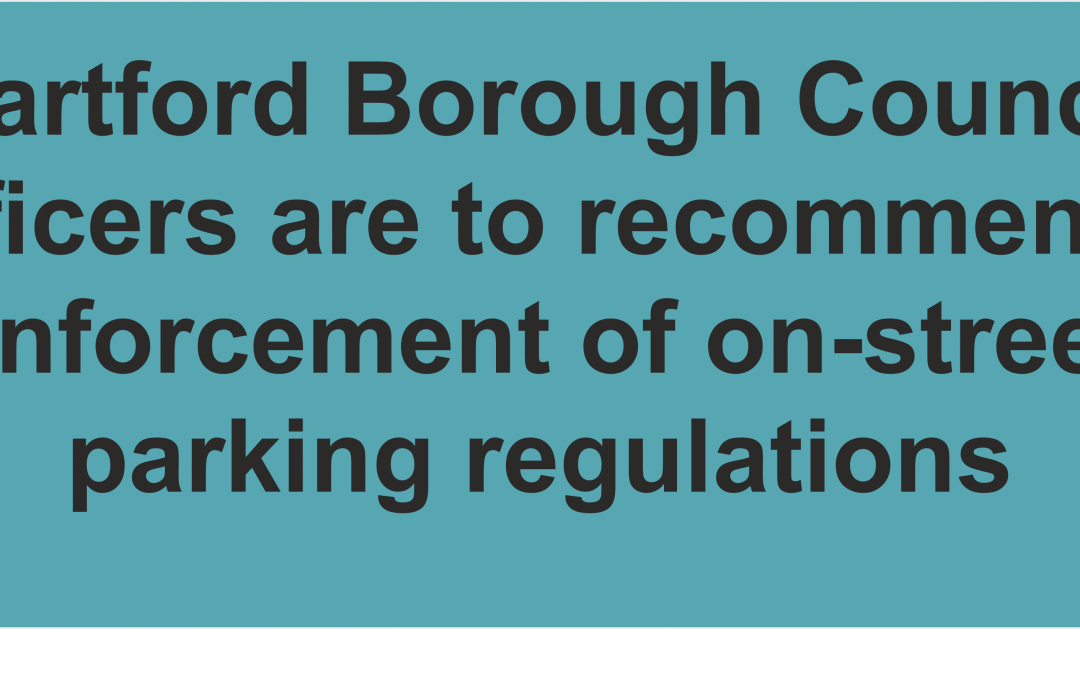 Car Parks to remain free but 'on street' enforcement to protect neighbourhoods will restart on 1 June 2020 says Dartford Council