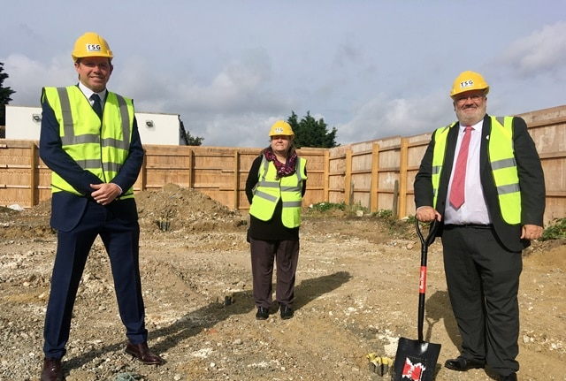Dartford Borough Council Ground Breaking On New Build Phase 3