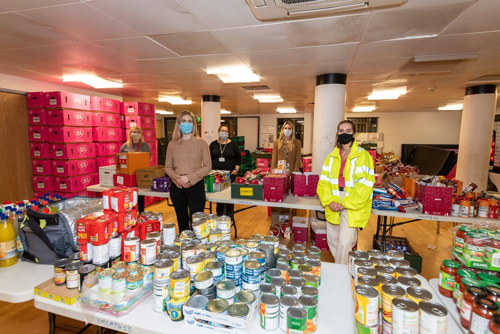 150 Happiness Hampers delivered just in time for Christmas with help from National Grid