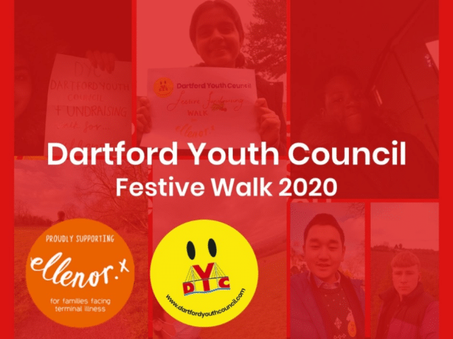 Dartford Youth Council raise £325 as part of festive fundraising walk for ellenor