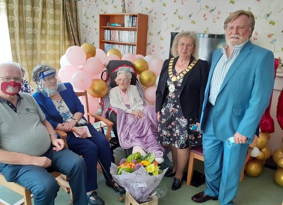 Mayor of Dartford celebrates former RAF radio operator's 100th birthday