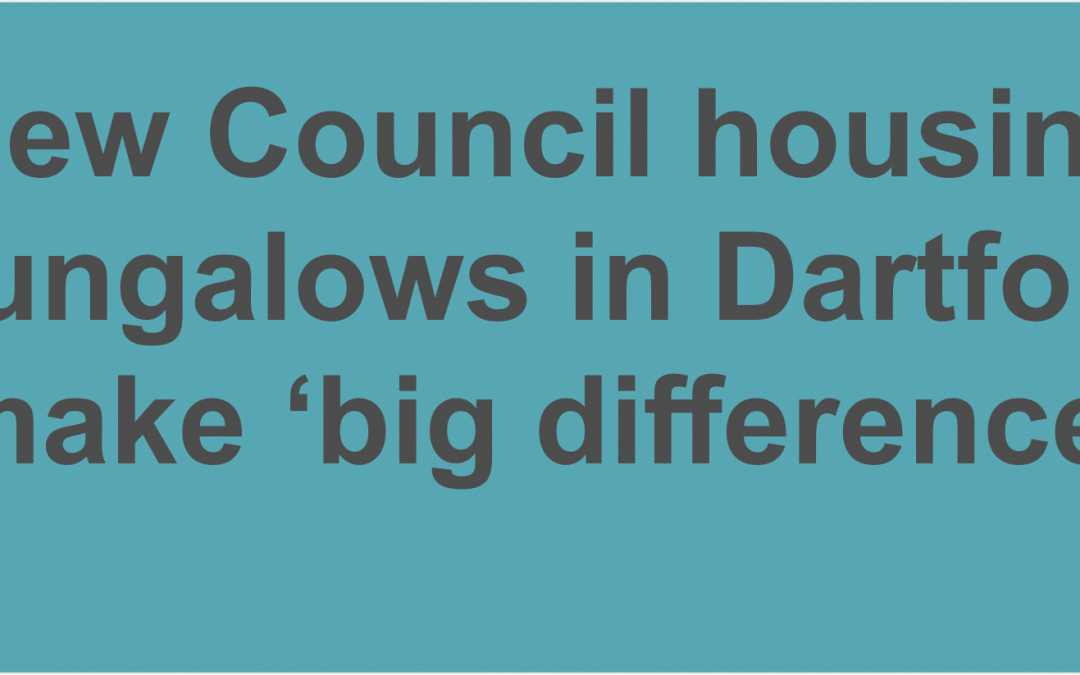 New Council housing bungalows in Dartford make 'big difference' for residents with additional needs